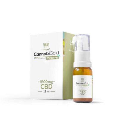 Olej cannabisgold Terpenes+ olej konopny 1500 mg opakowanie z butelką