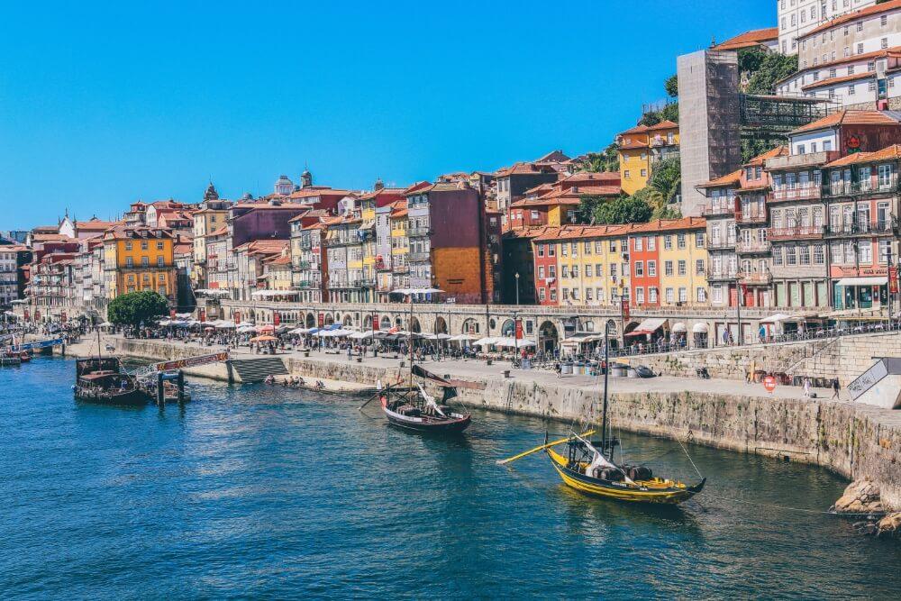 Porto panoramiczny widok miasta w Portugalii
